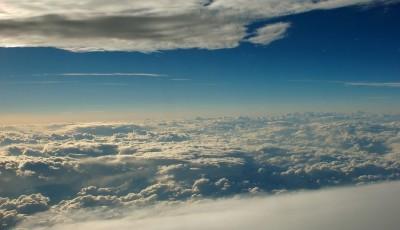 between sky